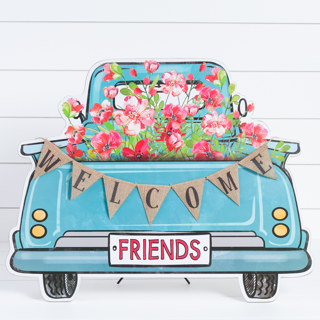 Welcome Friends Flower Truck Sign