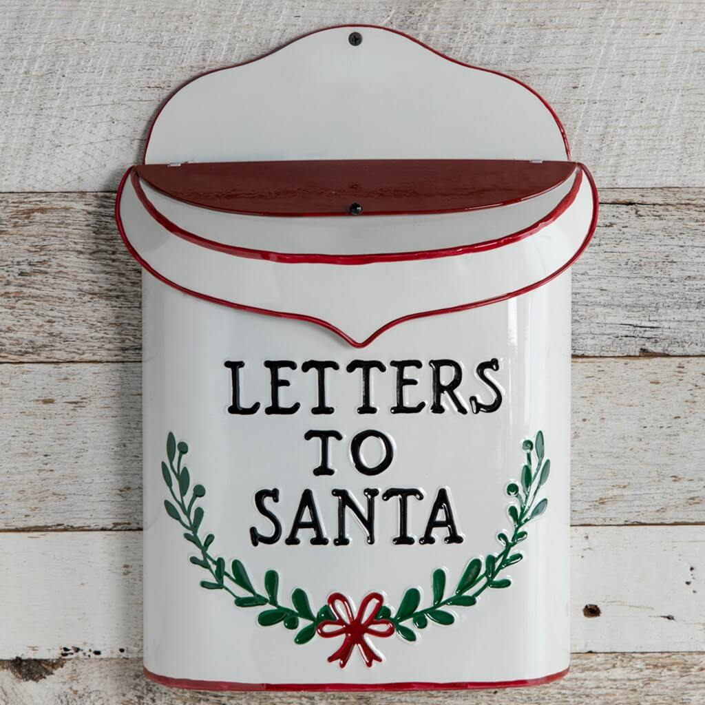Traditional Christmas Letters to Santa wall mounted mailbox