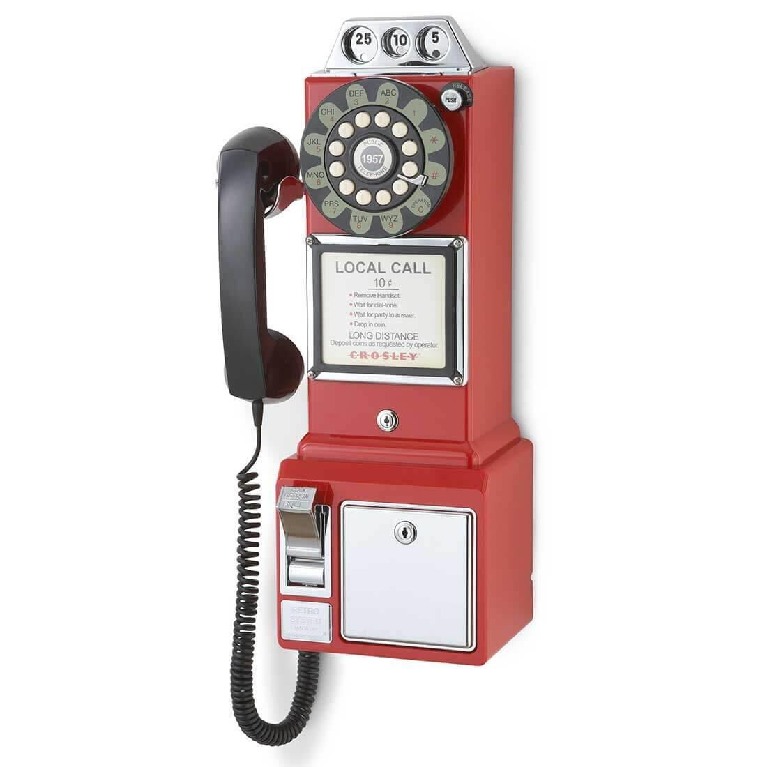 1950's Retro Red Pay Phone