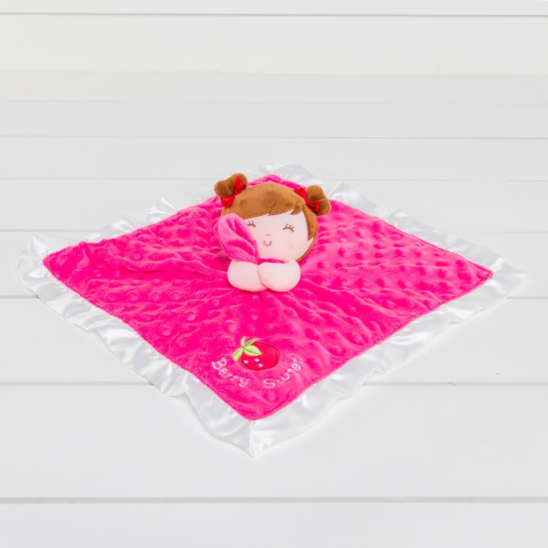 Berry Sweet Strawberry Lovie Blanket
