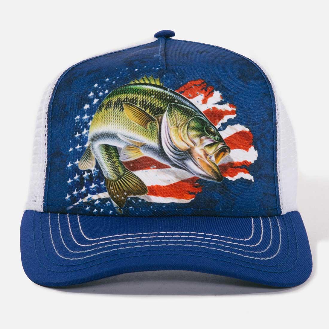 Patriotic Bass Trucker Hat