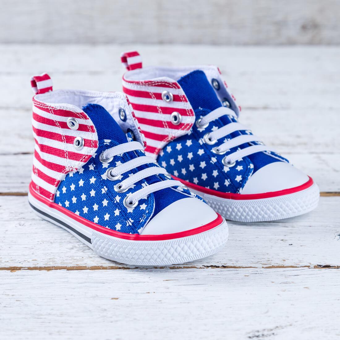 Toddler Flag High Top Sneaker