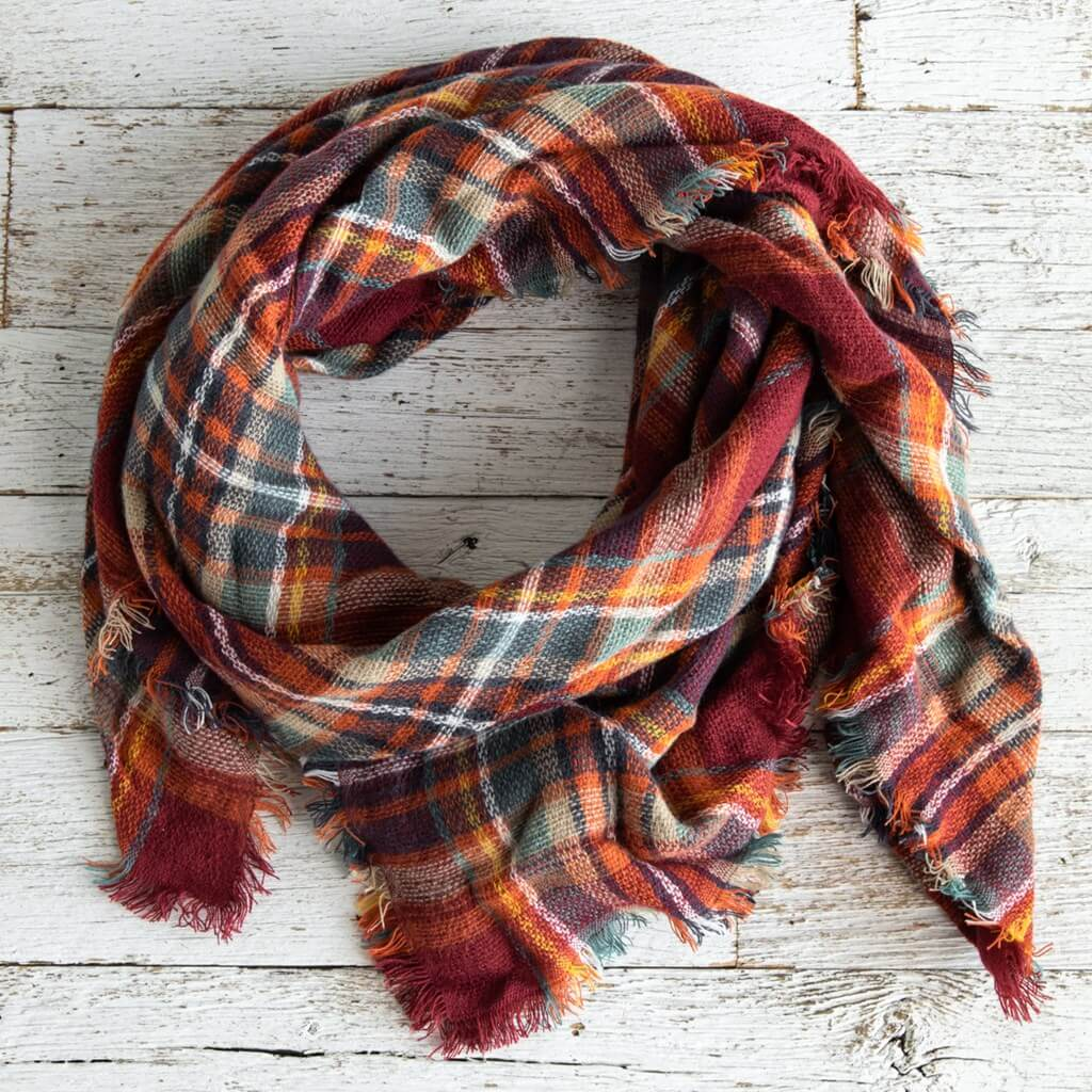 Plaid Scarf for Women