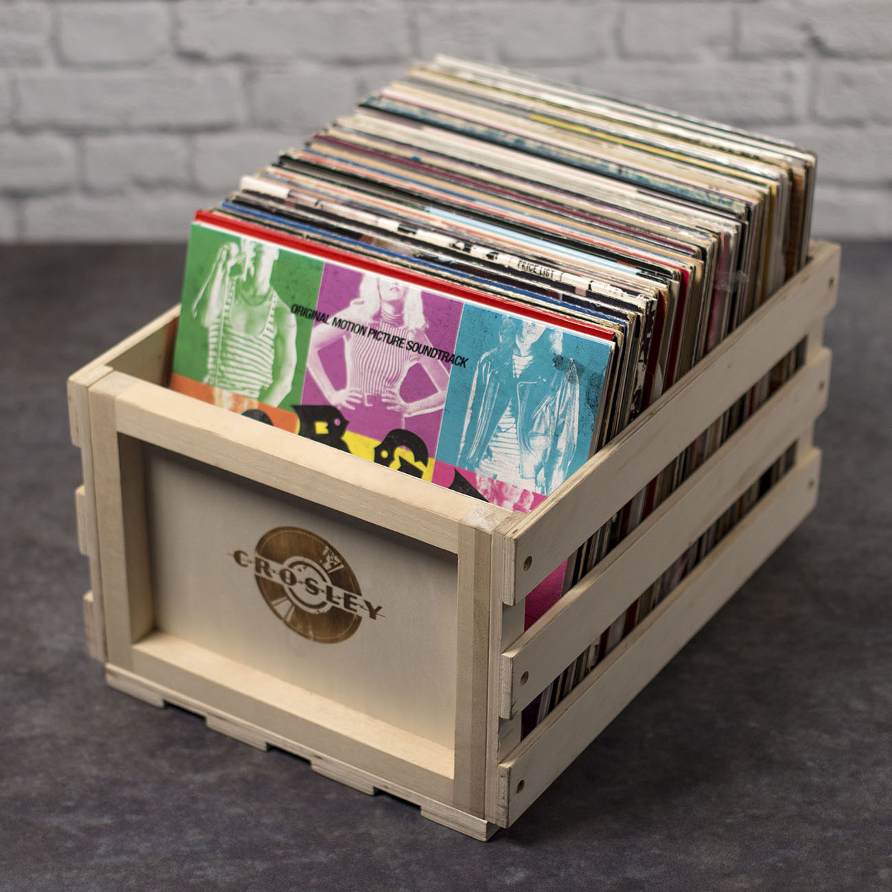 Crosley Wooden Record Storage Crate