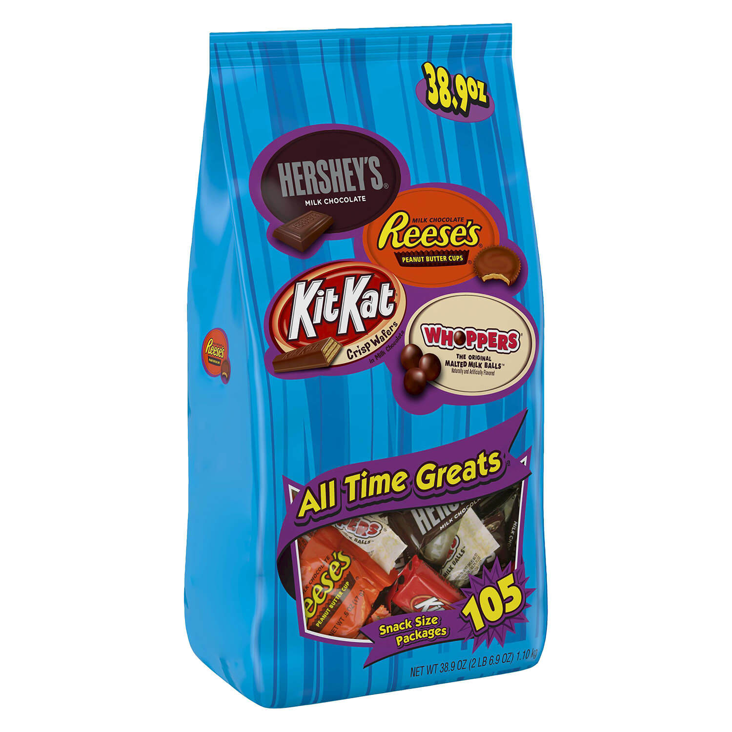 Hersey's All Time Greats Snack Size Assortment - 2.43 lbs
