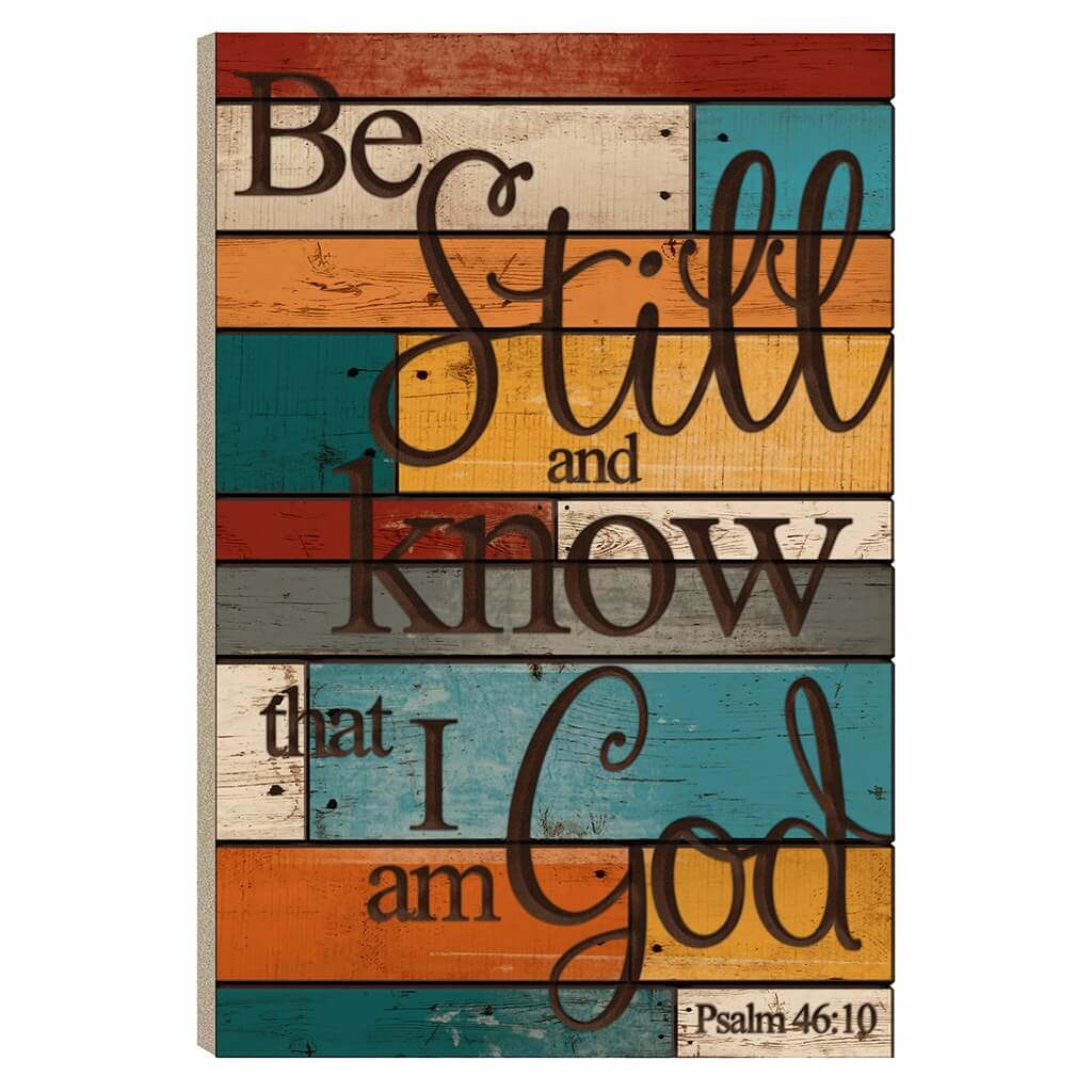 Be Still and Know That I AM God Wall Decor