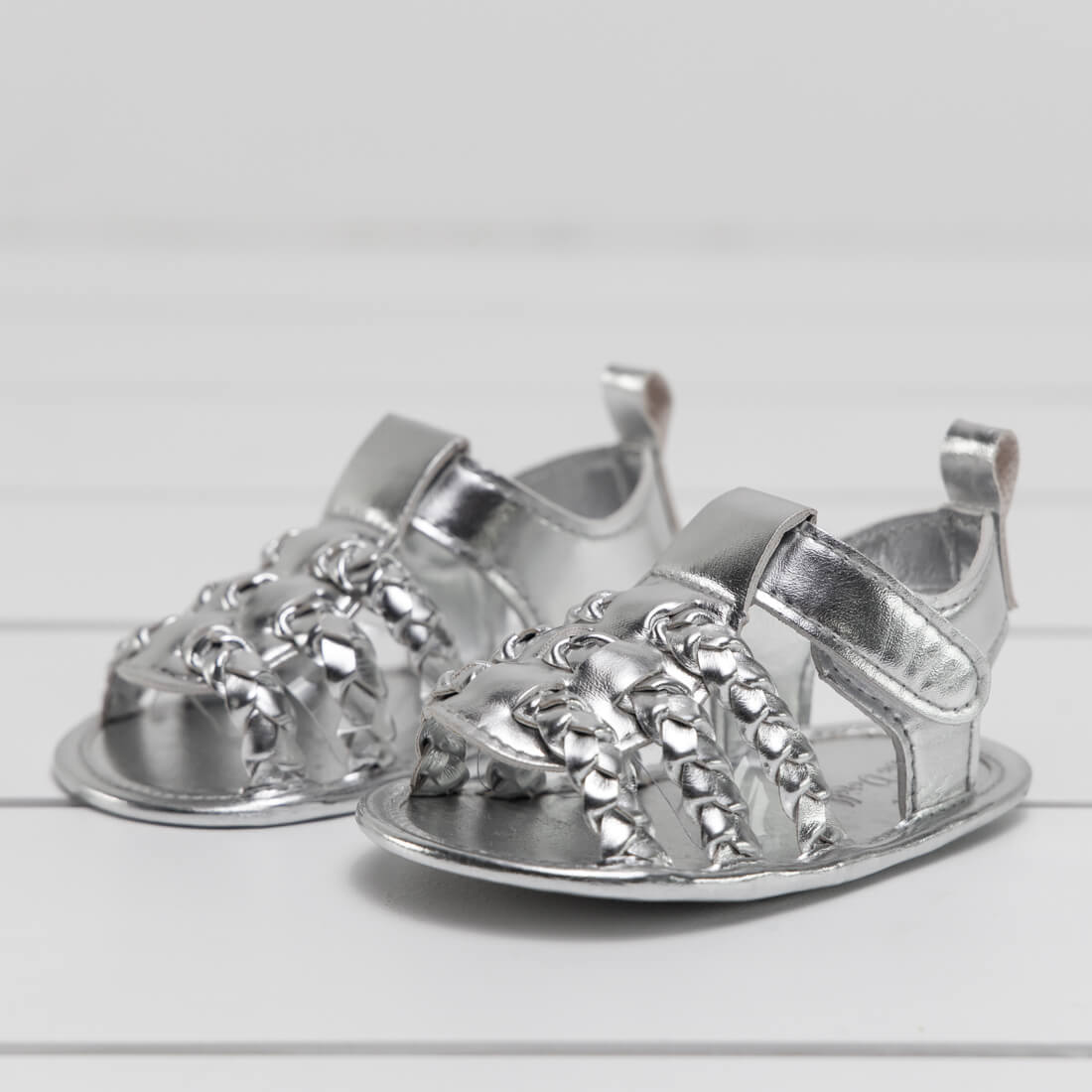 Infant Silver Strap Sandal