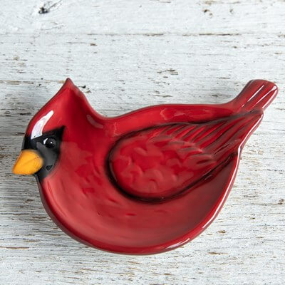 Cardinal Spoon Rest ceramic