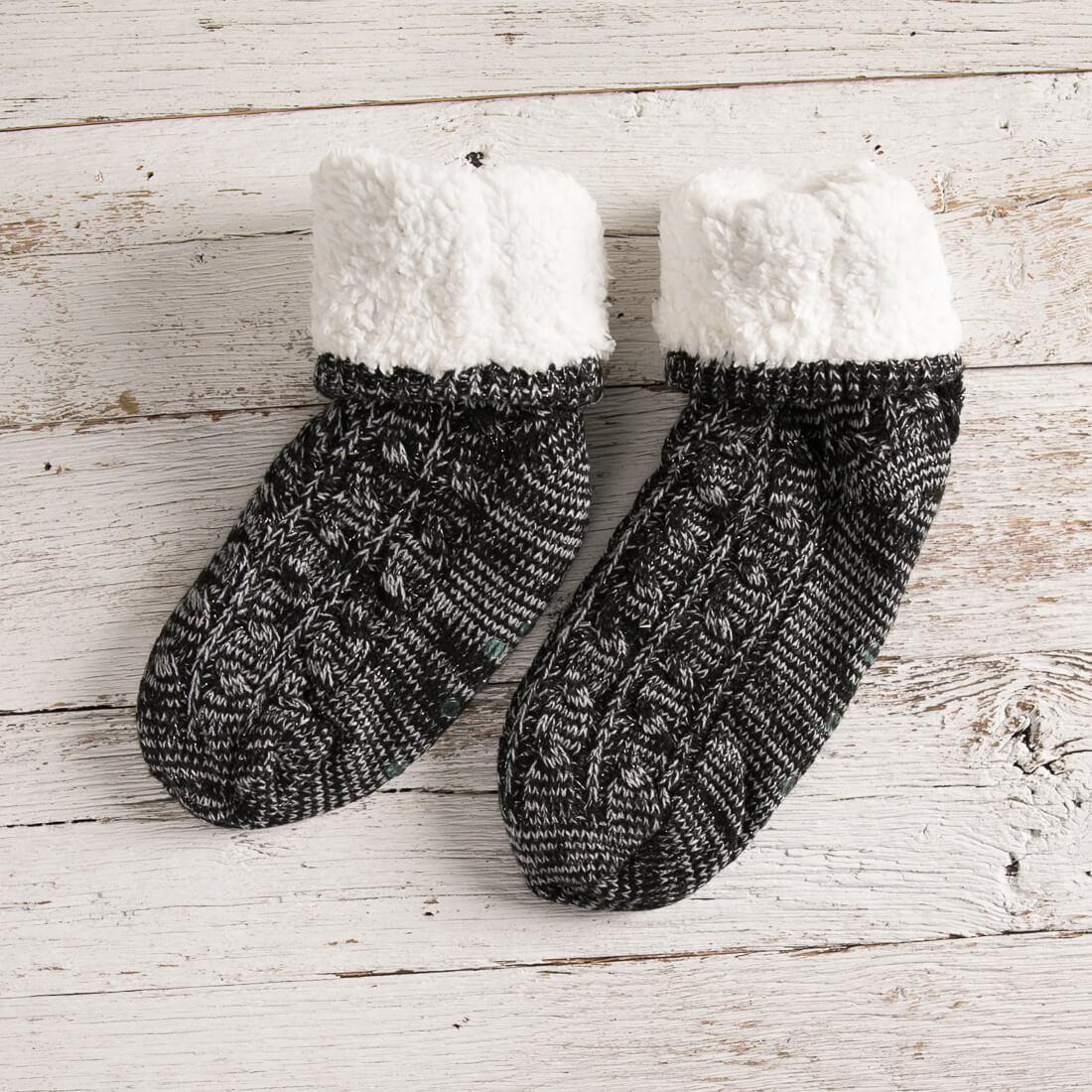 Black Slipper Socks