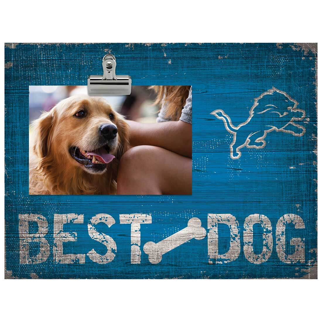 Detroit Lions - Best Dog Clip Frame