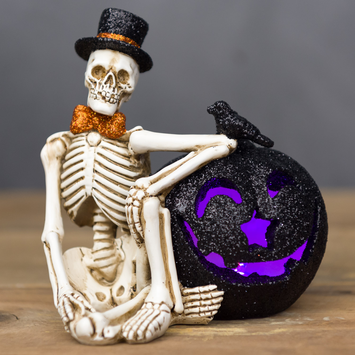 light up skeleton figurine