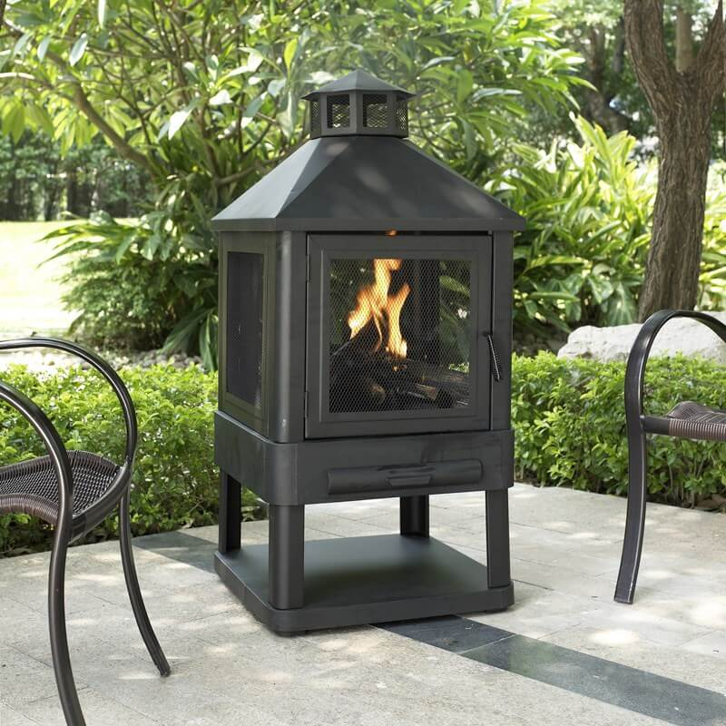Outdoor Fire Pit Black Cast Iron