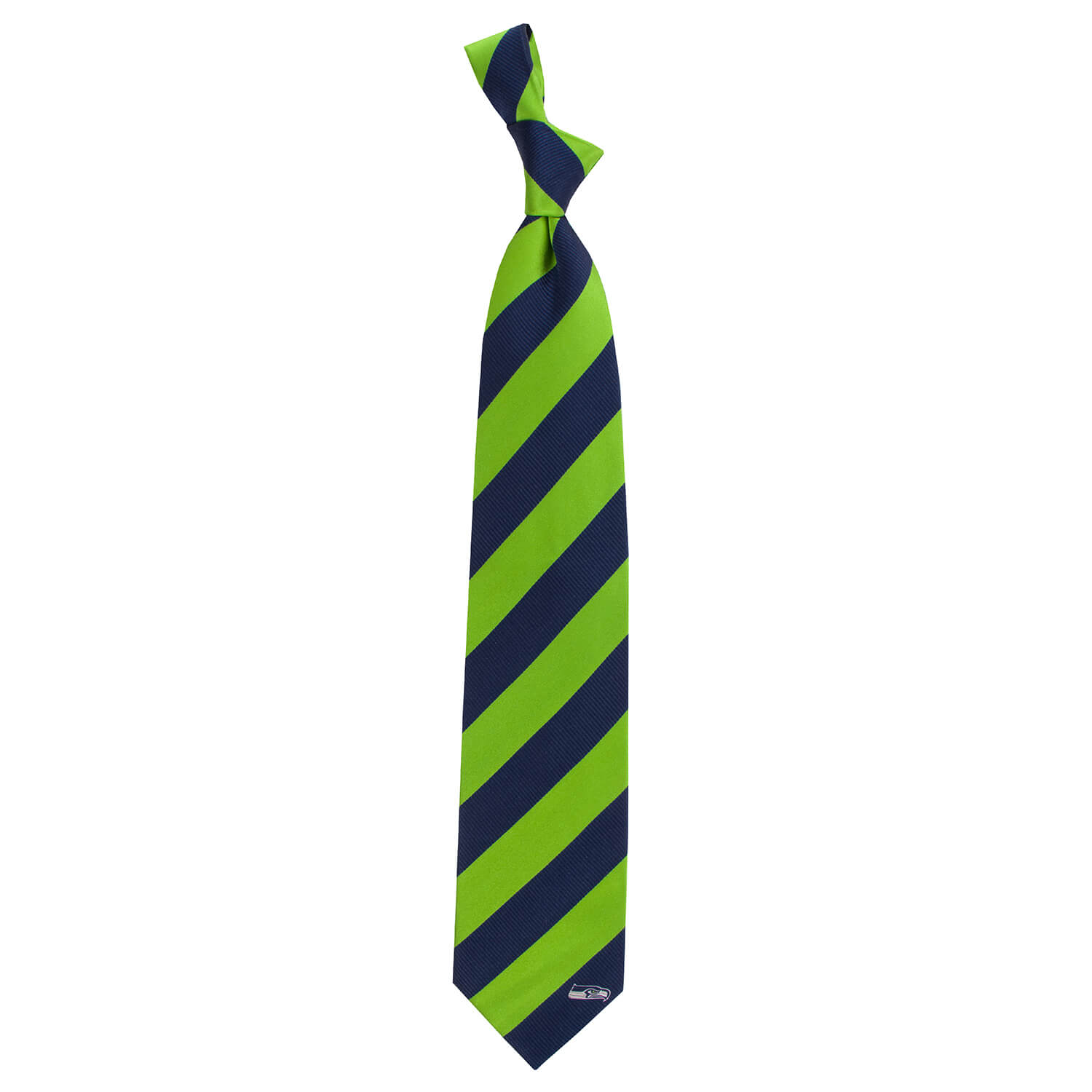 Striped Silk Tie - Seattle Seahawks