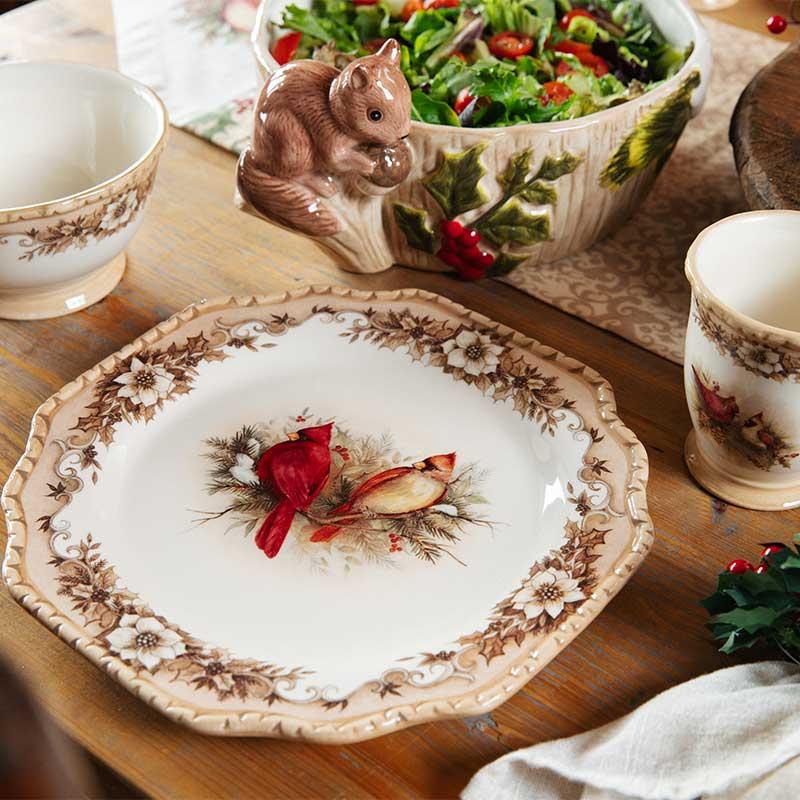 woodland christmas dinnerware - Cracker Barrel Christmas Eve Hours