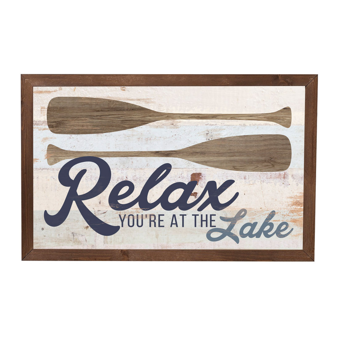 Relax, You're at the Lake Framed Sign
