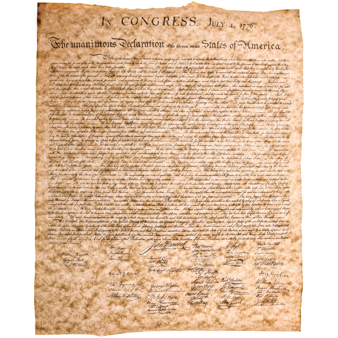 Declaration of Independence Small Poster