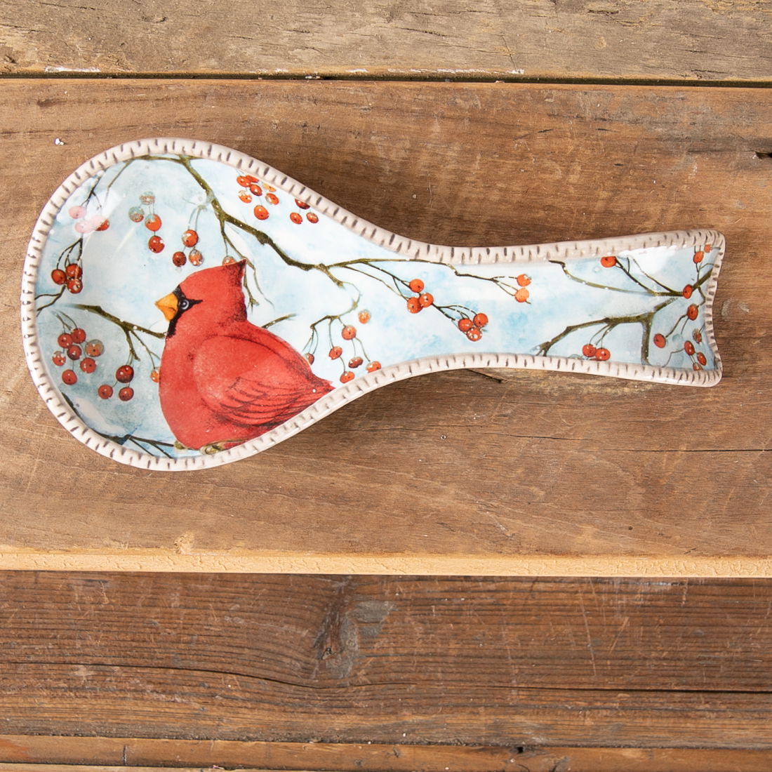 Cardinal Spoon Rest