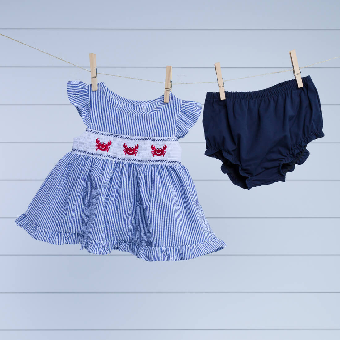 Infant Crab Dress with Bloomer