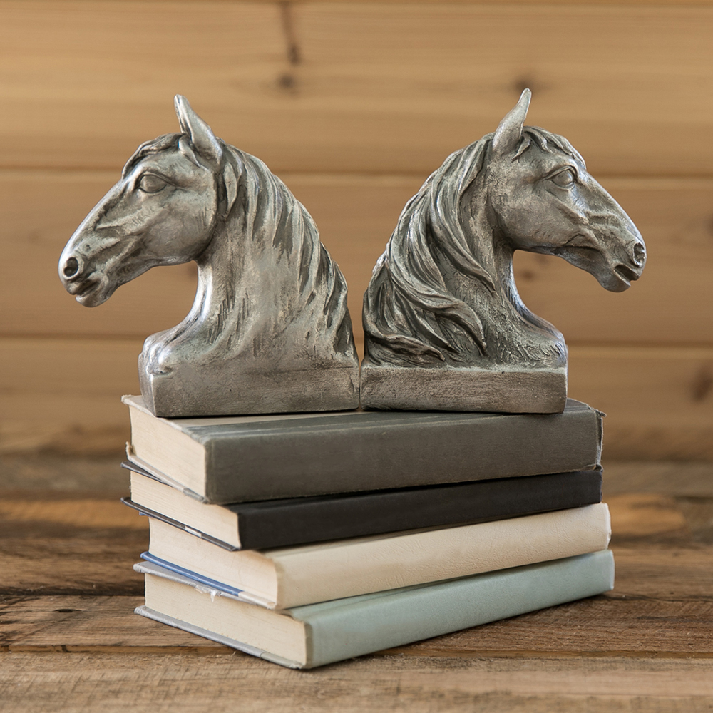 Horse Bust Bookends
