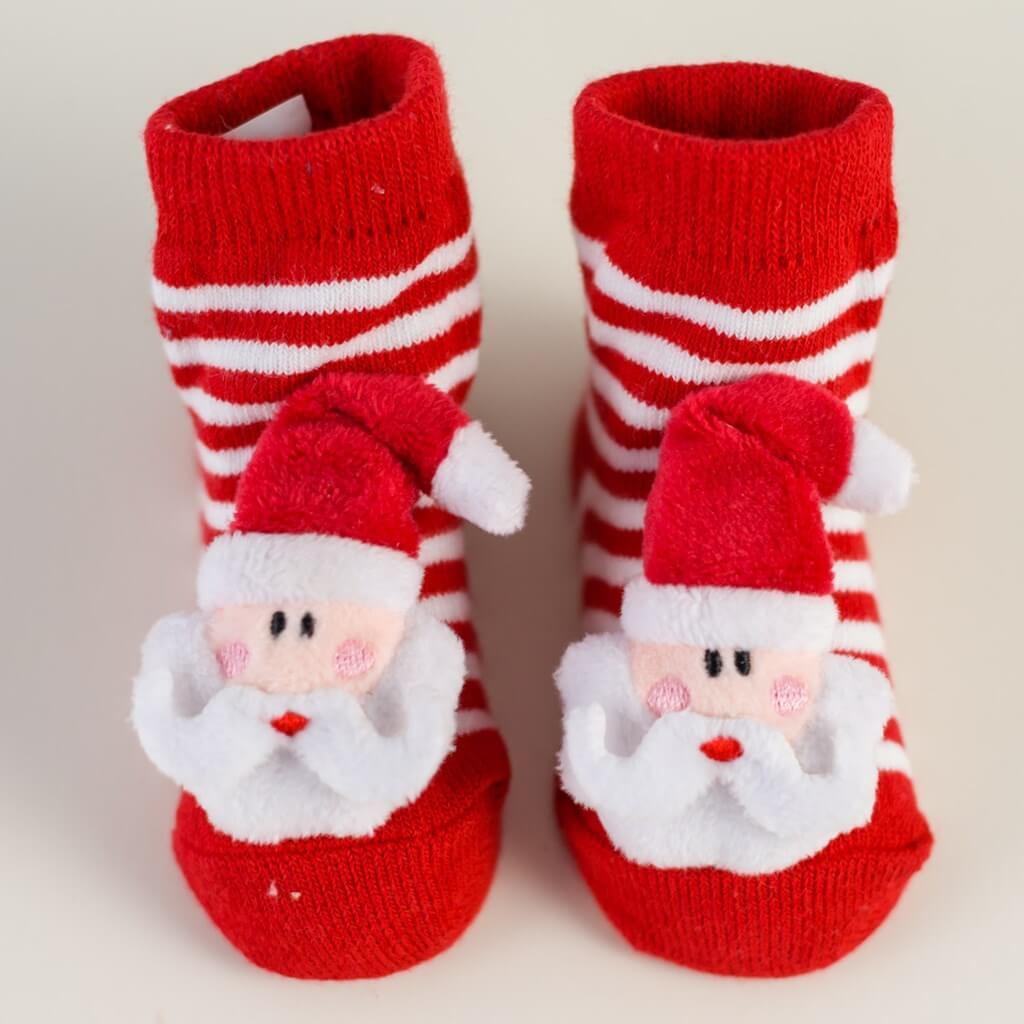Santa Rattle Sock