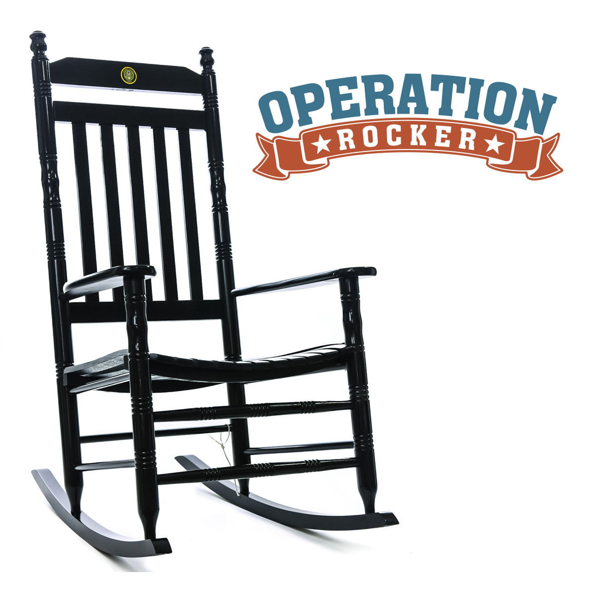 US Army Fully Assembled Rocking Chair