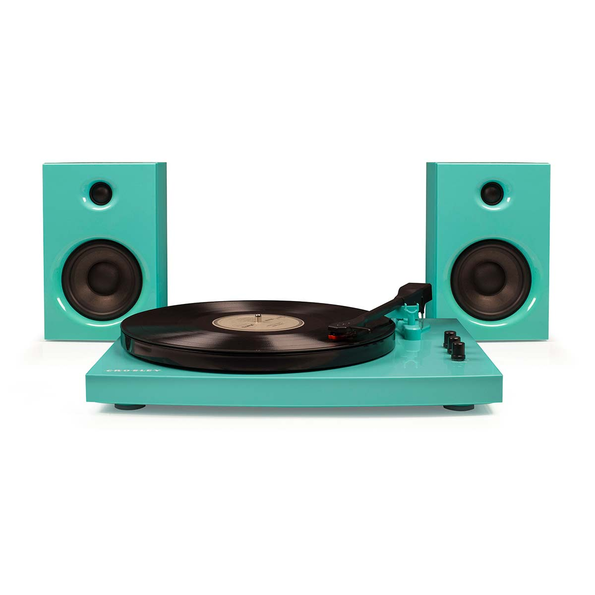 Crosley T100 Record Player and Speaker System - Turquoise