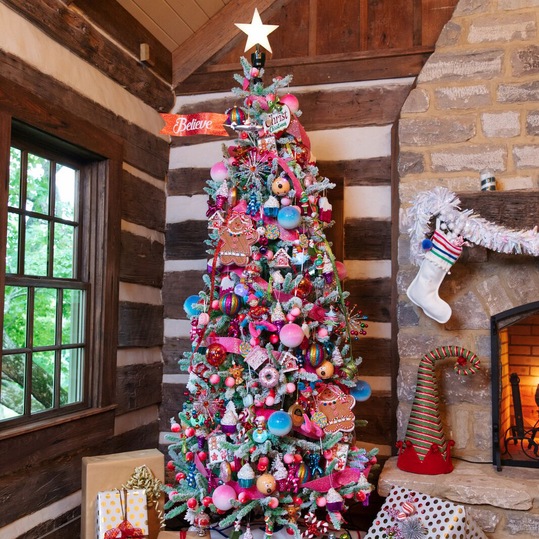 christmas trees and trim