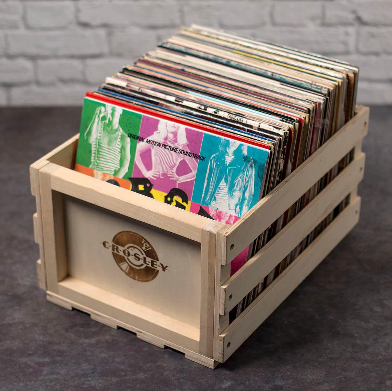 Crosley Wooden Record Storage Crate