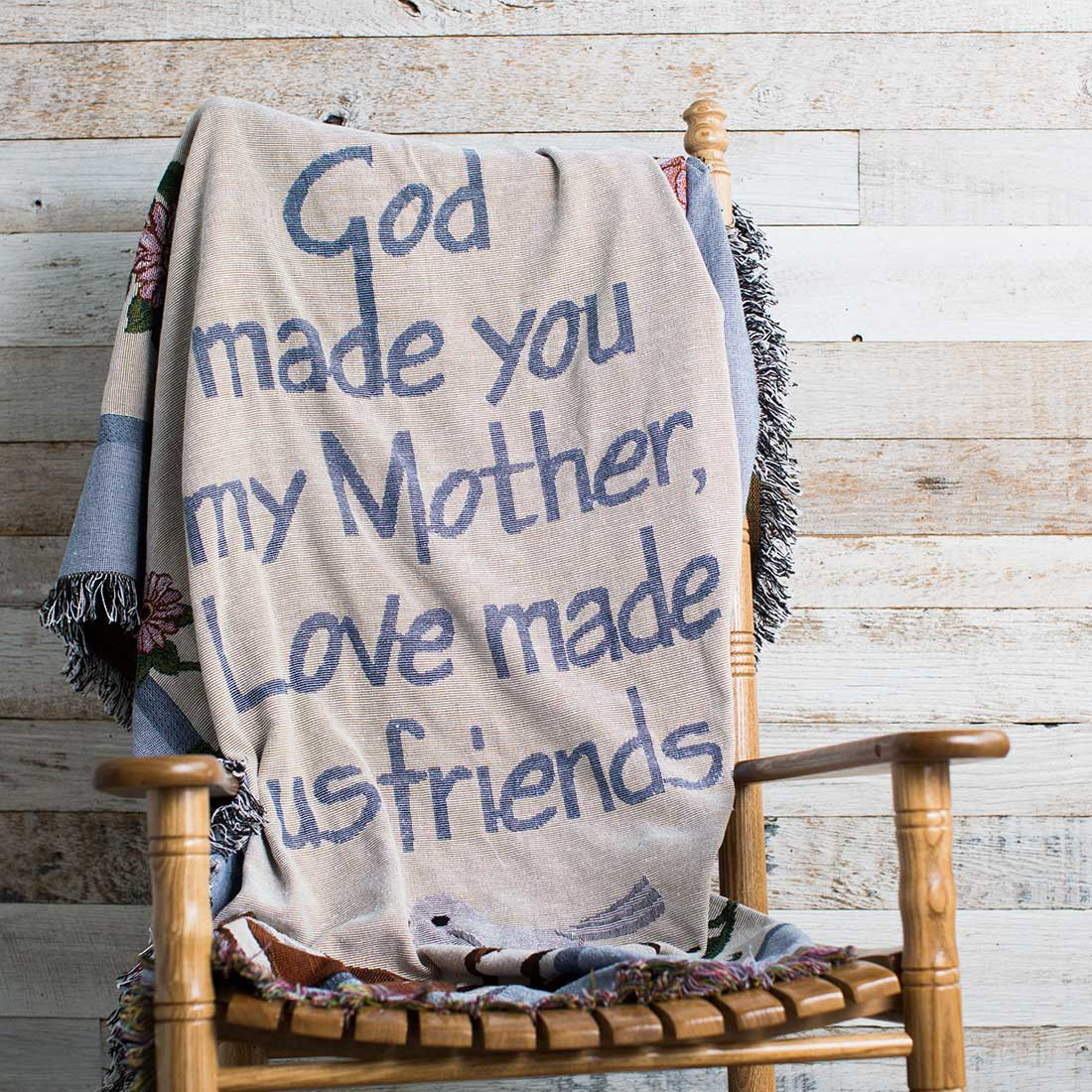 God Made You My Mother Jaquard Throw