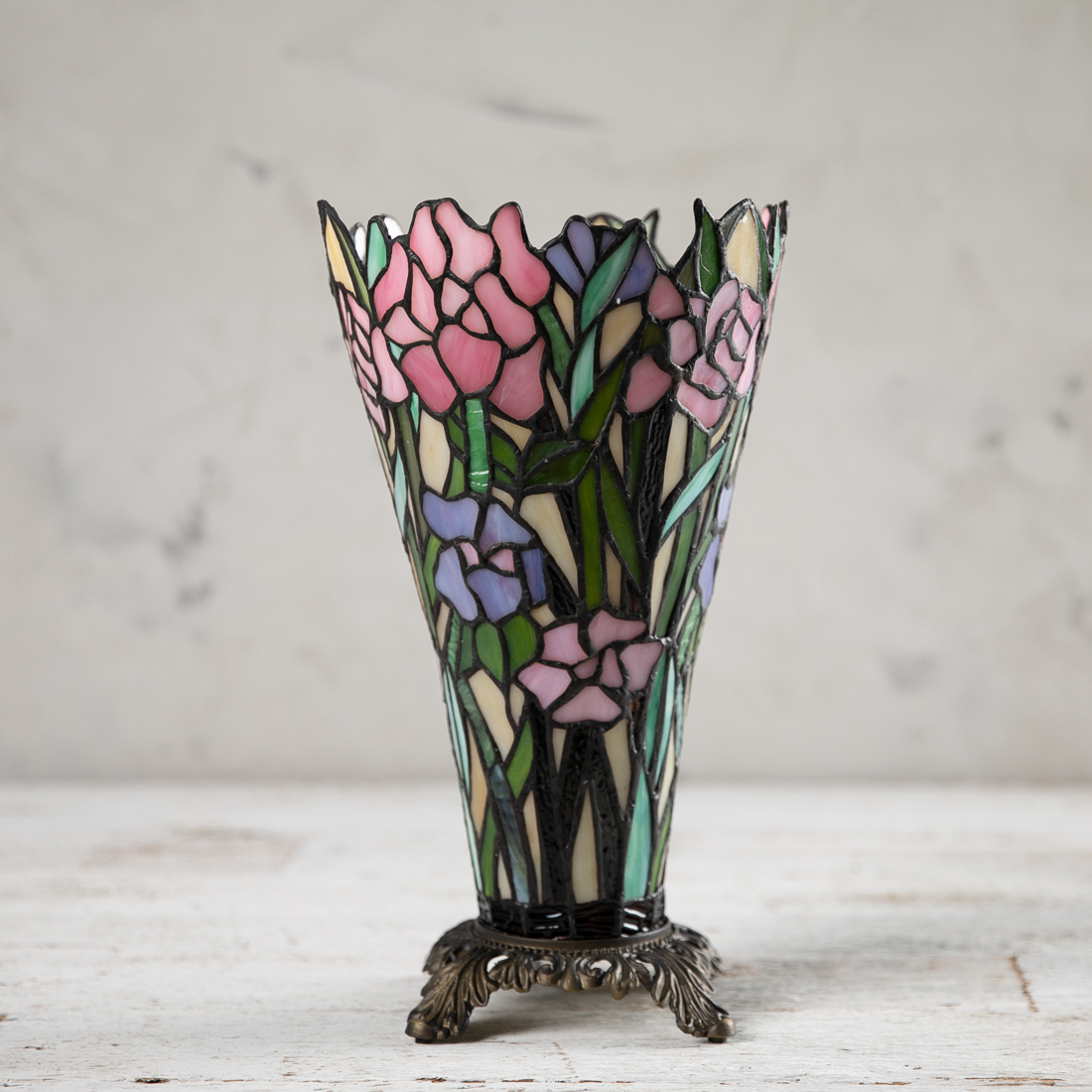 Floral Bouquet Stained Glass Lamp