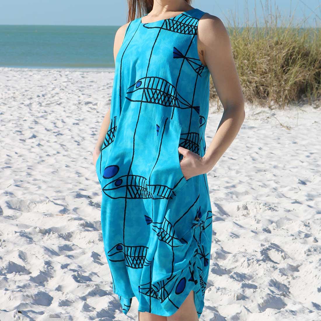 Blue Fish Dress
