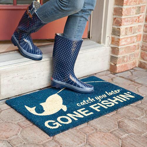 Gone Fishin' Coir Doormat