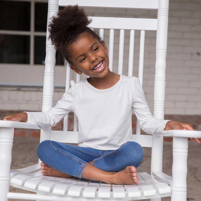 Little Girl on Rocker