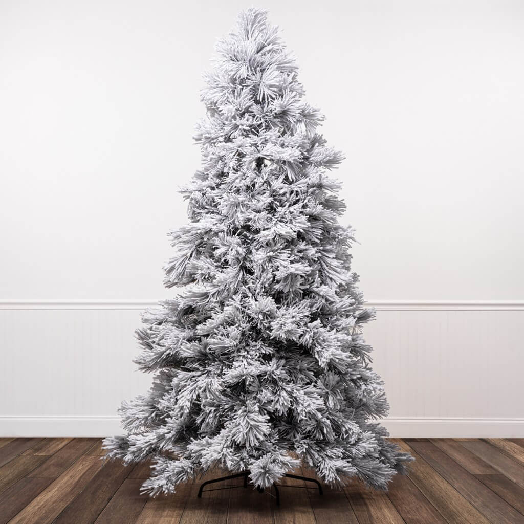 White Frocked Christmas Tree Seven and one-half foot pre-lit