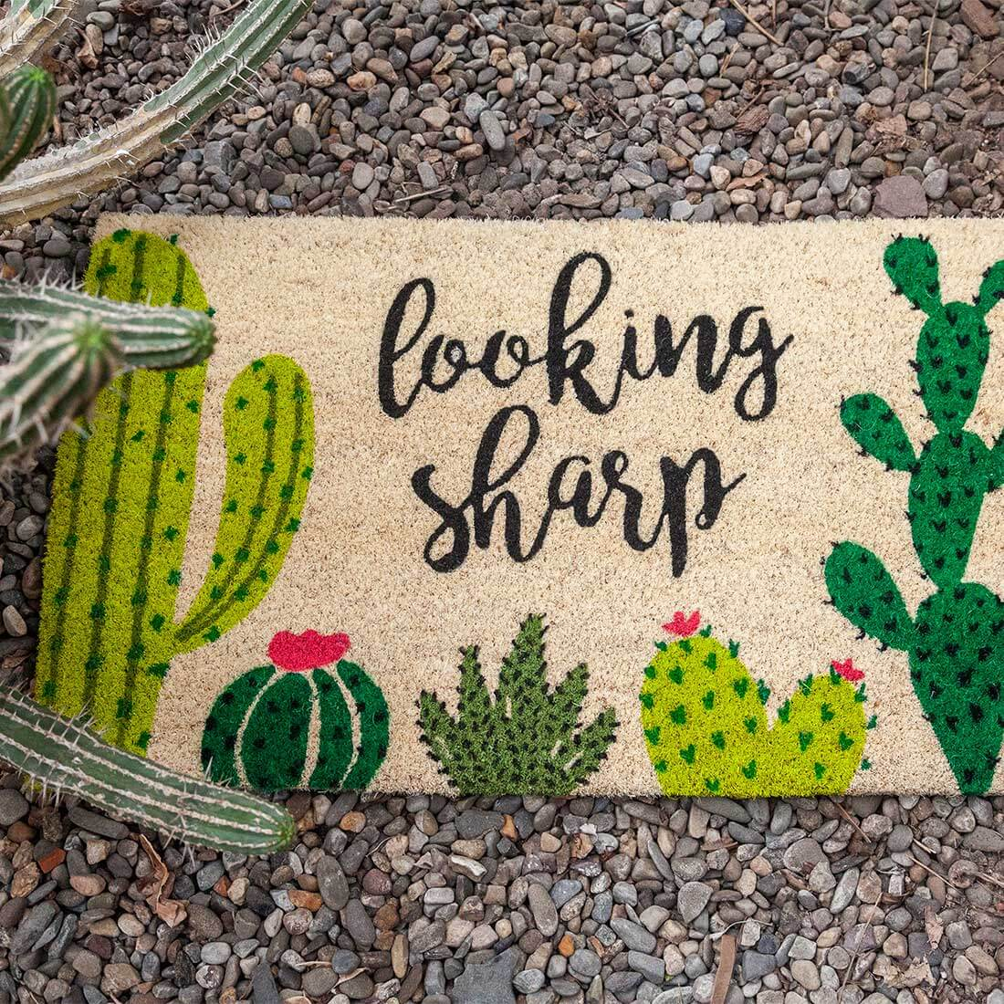 Looking Sharp Slip Resistant Coir Doormat