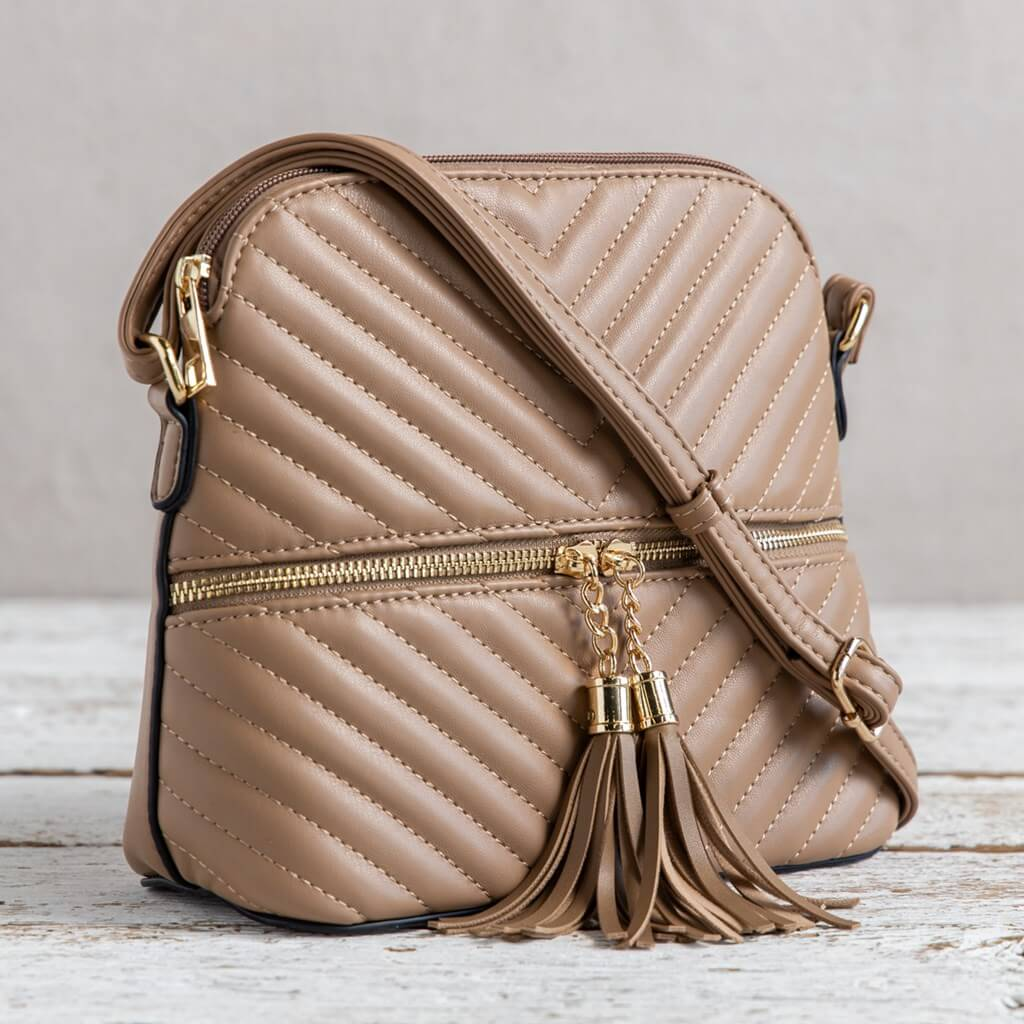 Light Brown Crossbody Purse