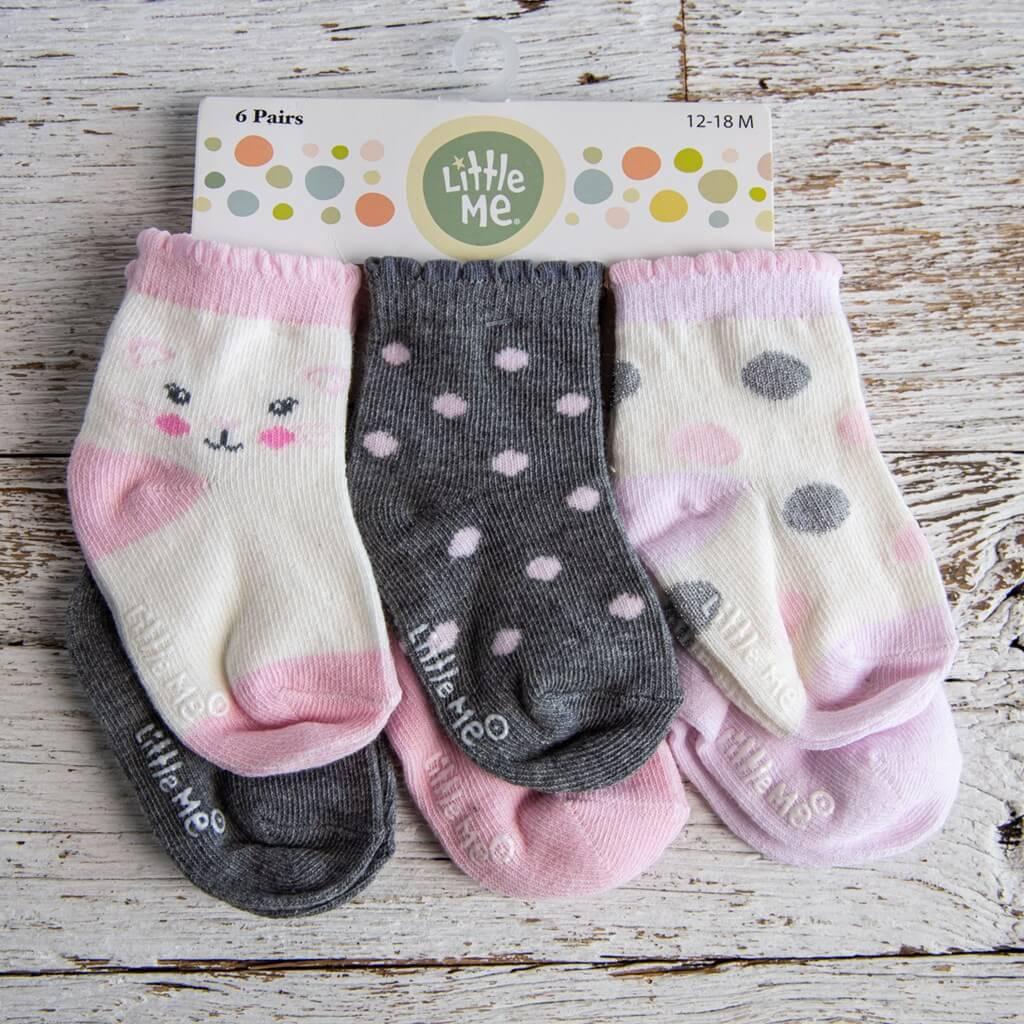 Toddler socks six pack