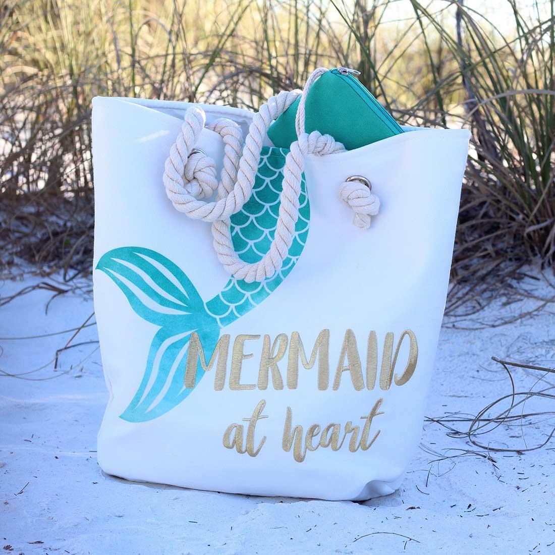 Mermaid at Heart Rope Handle Bag