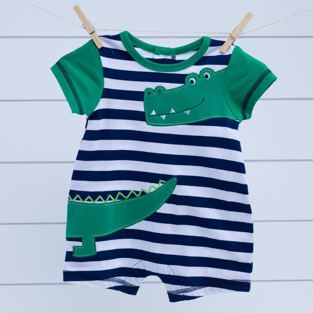 Infant Alligator Applique Romper