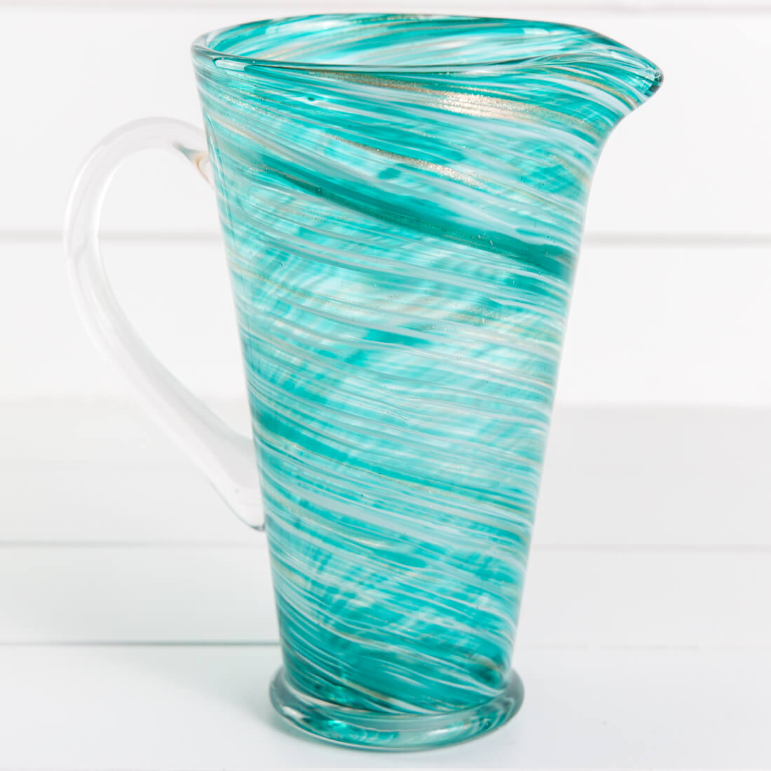 Glass Swirl Pitcher