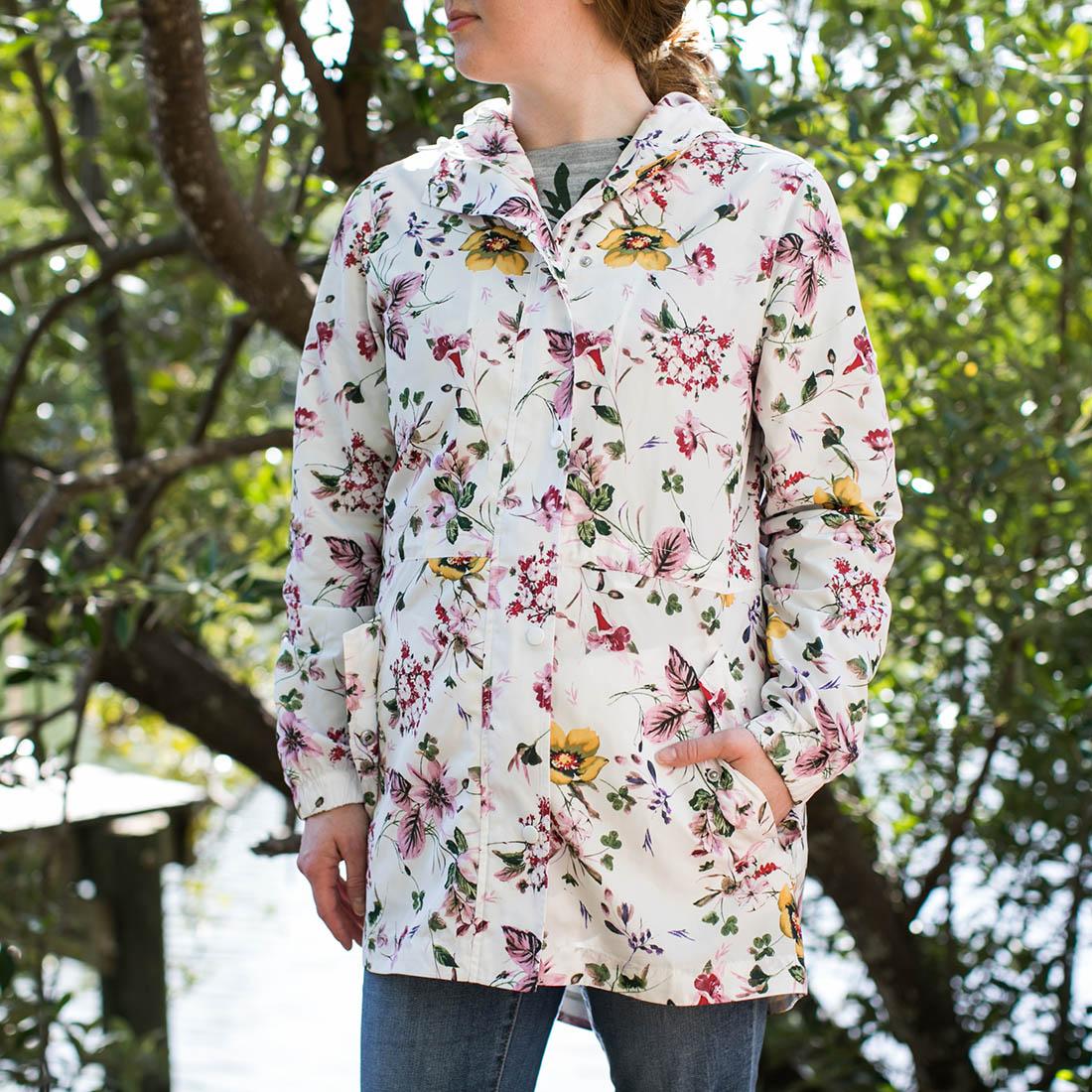 Women's Floral Rain Jacket