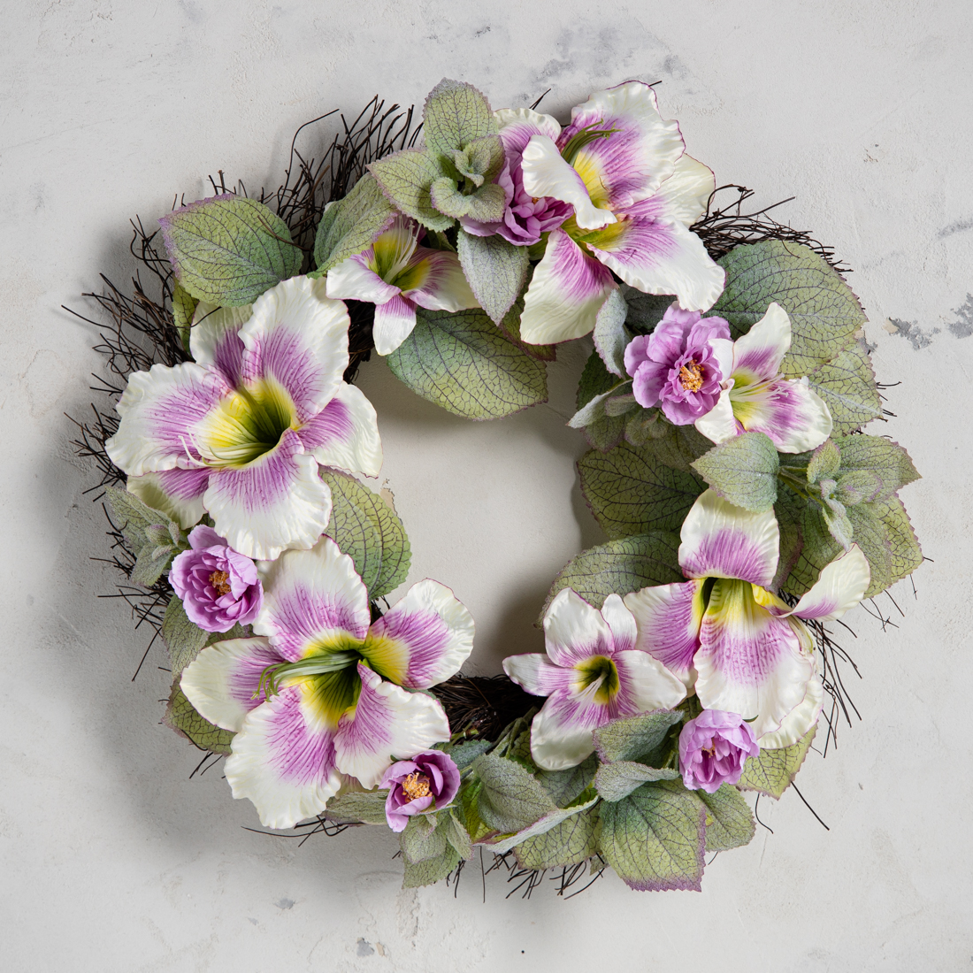 Peacock Faux Flower Wreath