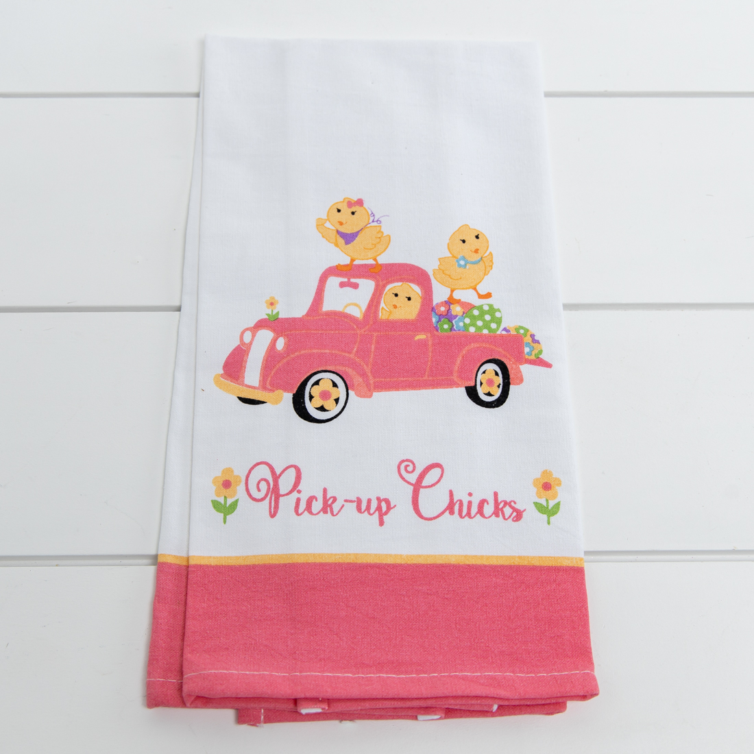 Pick Up Chicks Tea Towel