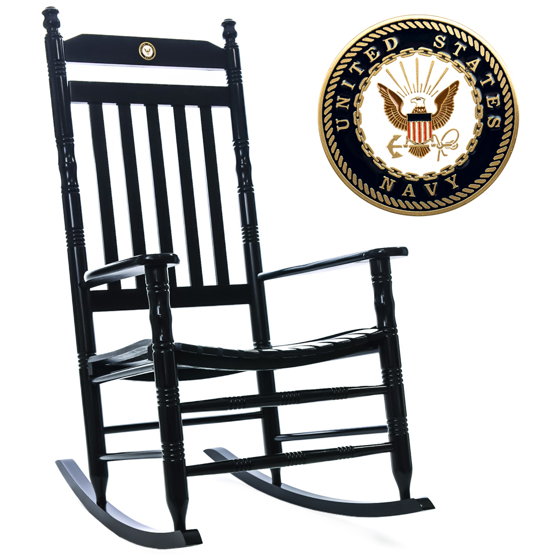 US Navy Fully Assembled Rocking Chair