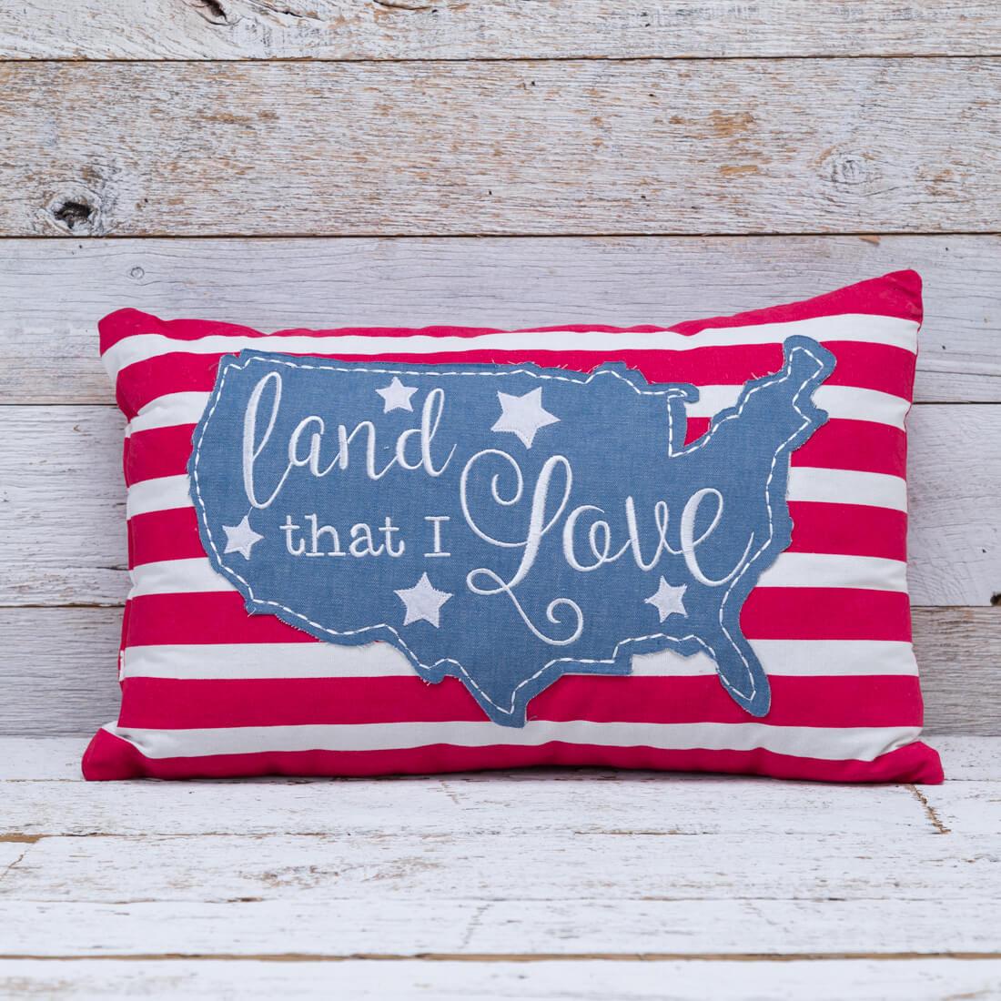 Land That I Love USA Pillow