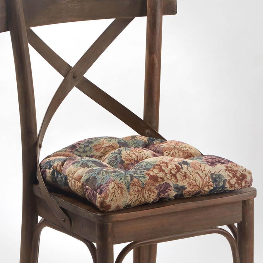 Bench Cushion Cabernet Tufted Universal Chair Cushion - 2 Pack