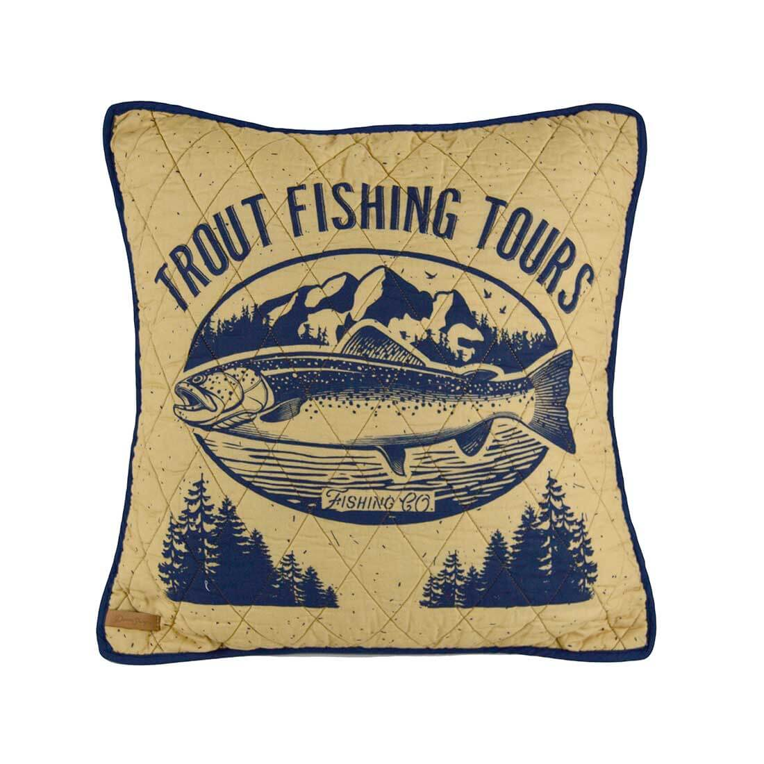 Lakehouse Trout Pillow by Donna Sharp