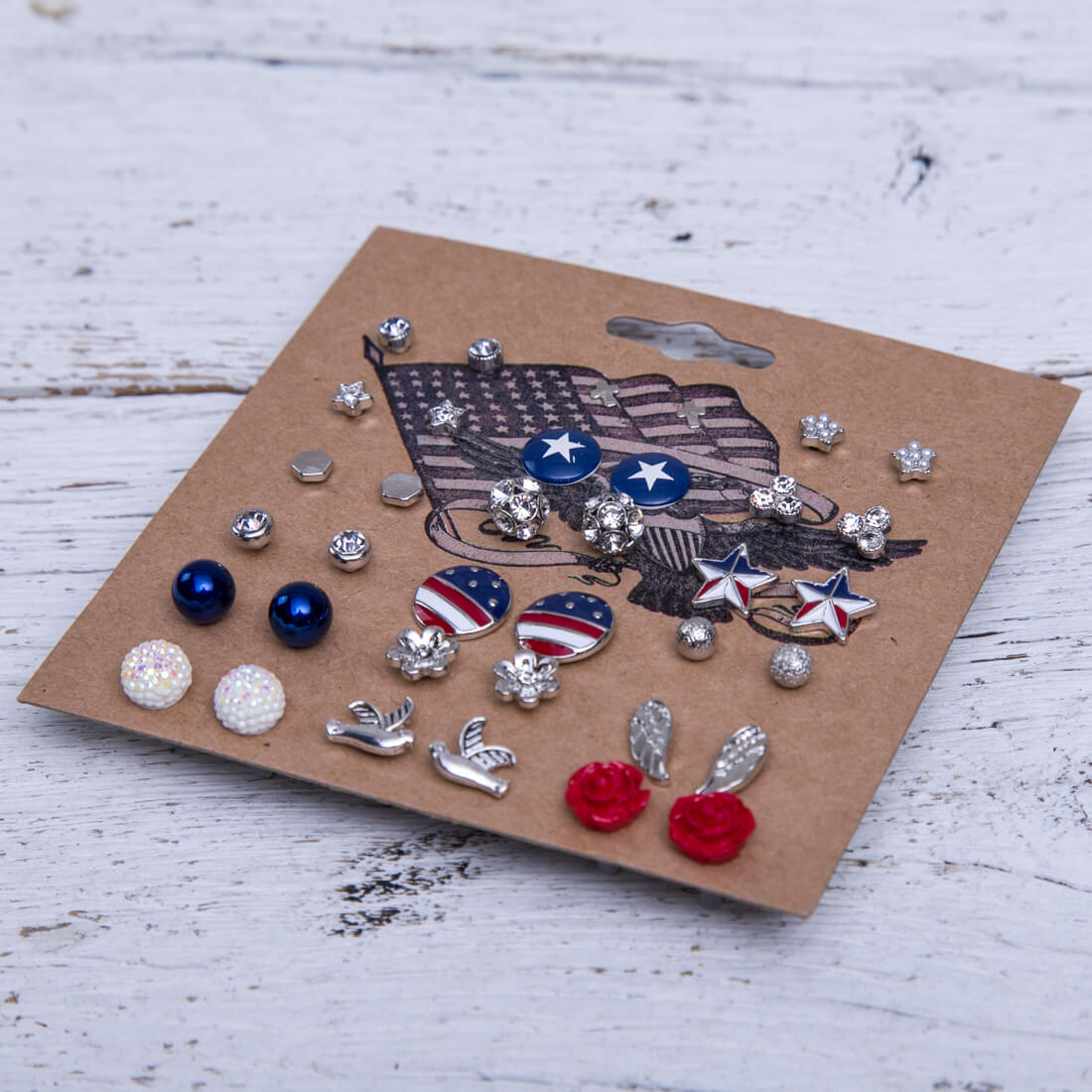18-Piece Americana Earring Set