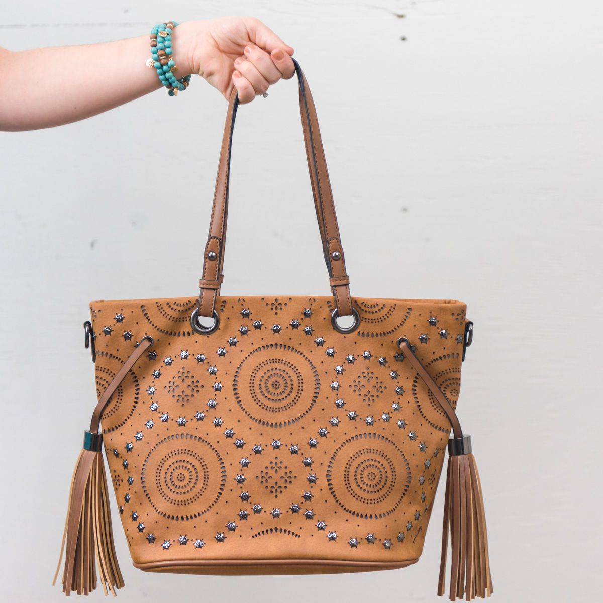 Stud Bag with Tassels