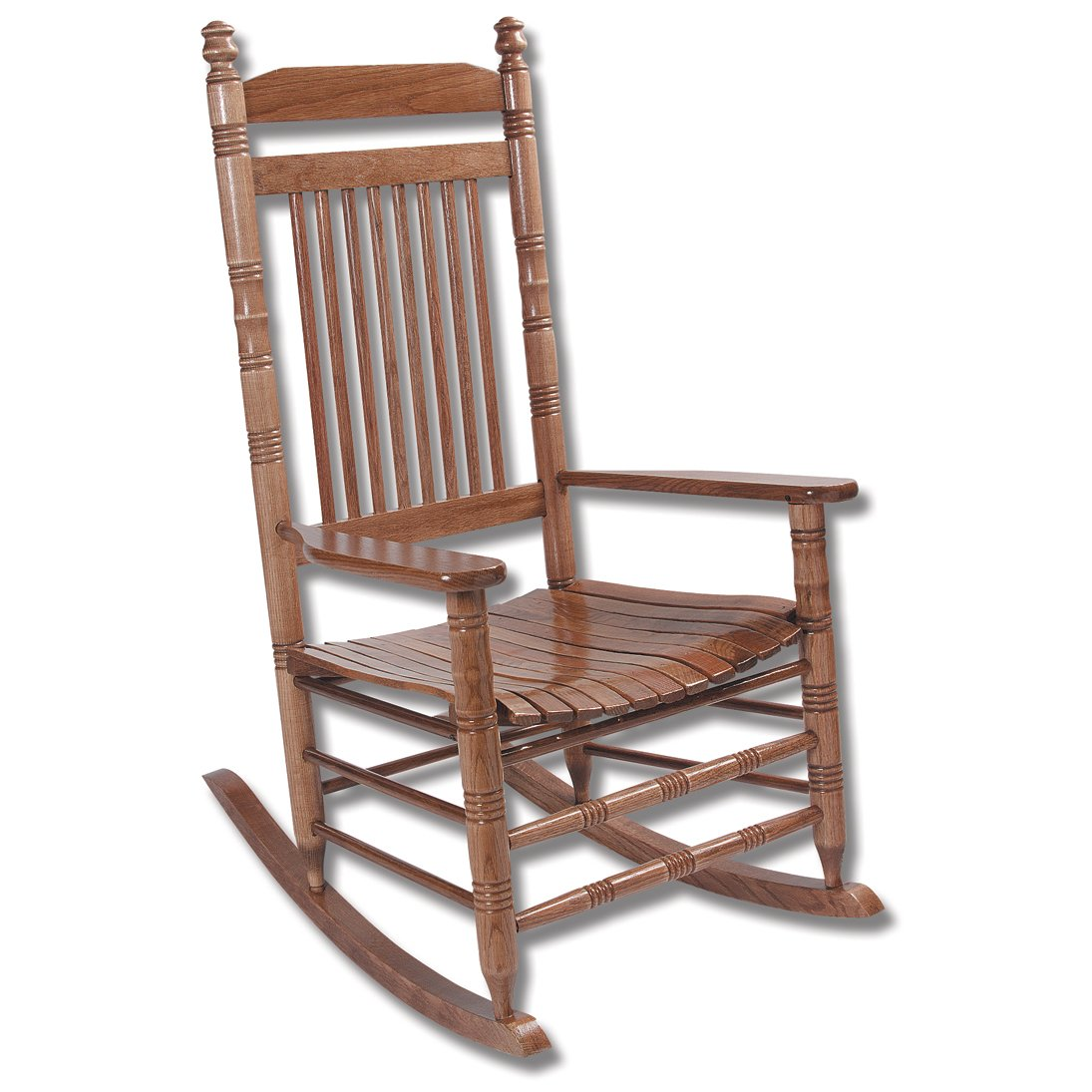 Hardwood Slat Rocking Chair - Fully Assembled